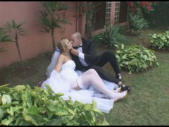 Hot wedding sex outdoors