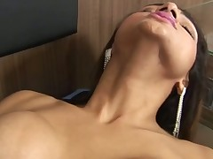 Timid TS slut becomes a thrall of a huge mighty manhood