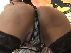 Sexy t-girl fucks like hell & milks her partner completely dry
